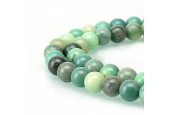 (8mm, Green Chrysoprase Agate) - BRCbeads Gorgeous Natural Chrysoprase Agate Gemstone Round Loose Beads 8mm Approxi 15.5 inch 46pcs 1 Strand per Bag for Jewellery Making