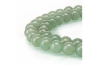 (8mm, Green Aventurine) - BRCbeads Gorgeous Natural Green Aventurine Gemstone Round Loose Beads 8mm Approxi 15.5 inch 46pcs 1 Strand per Bag for Jewellery Making