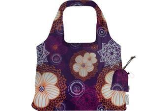(FLOURISH) - ChicoBag Vita Purple Blooms Collection Bag, Flourish