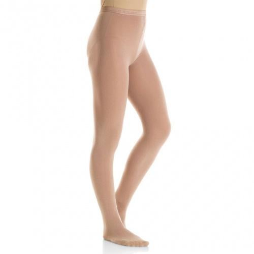 (Large, Light Tan) - Mondor 3301 Bamboo Over The Boot Figure Skating Tights