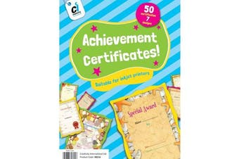 50 Achievement Award Motivational Certificates