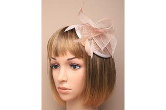 Allsorts® Nude Comb Feather Hat Fascinator Ladies Day Royal Ascot Weddings