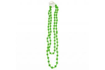 (Green) - Plastic Beads Long Fancy Dress Necklace