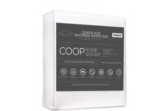 (Queen) - COOP HOME GOODS – Mattress Protector – Soft and Noiseless - Waterproof and Hypoallergenic - Protect Your Mattress Against Fluids/Spills/Mites/Bed Bugs - Oeko-TEX Certified Lulltra® Fabric - Queen