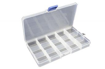 15 Compartment Frosted Plastic Organiser (BDF15)