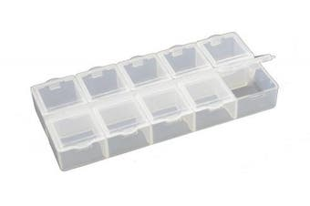 Small 10 Compartment Frosted Plastic Organiser (BDF10)