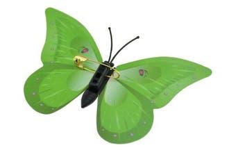 (Green Butterflies (Metal Pin for Clothes Draperies Curtains)) - FiveSeasonStuff® 24 Pcs 3D Butterfly Collection (Green Butterflies (Metal Pin for Clothes Draperies Curtains))