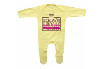 (6 - 12 Months, Lemon Yellow) - Bang Tidy Clothing Baby Girl's Daddy's Little Princess Funny Rompersuit