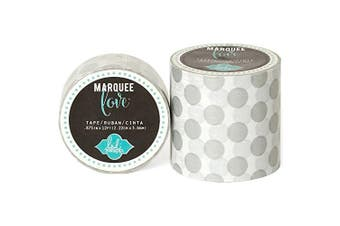 Heidi Swapp Marquee Love Washi Tape 5.1cm -Silver Foil Polka Dot, 2.7m