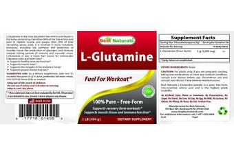 L-Glutamine Powder 0.5kg by Best Naturals - 100% Pure - Free Form - Fuel for Work out*