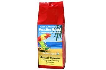 (Bonzai Pipeline Dark Roast) - Dark Roast Certified Organic Rain Forest Alliance Fair Trade Coffee, 240ml Ground (Drip Grind)