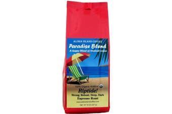 (Riptide - Espresso Roast, Ground) - Riptide! Strong, Deep, Dark Espresso Roast, Certified Organic Rain Forest Alliance Fair Trade Coffee, 240ml Ground (Drip Grind)