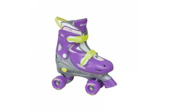 (Small) - Chicago Skate Girls Adjustable Quad Skates - Purple