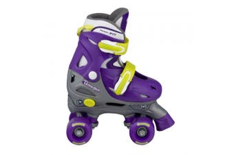 (Medium) - Chicago Skate Girls Adjustable Quad Skates - Purple