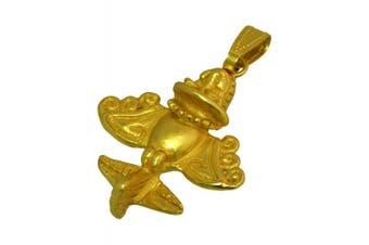 Ancient Aliens Jewellery Collection - 24k GP Pre-Columbian Golden Jet-7 / Ancient Aircraft-7 /Golden Flyer-7 Pendant Necklace