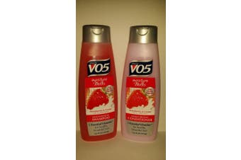 Alberto V05 Moisture Milks Strawberries & Cream Moisturising Shampoo & Conditioner Set (370ml)