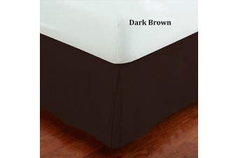 (Queen, Brown) - Fancy Collection Queen Size Easy Care Tailored Microfiber 36cm Bed Skirt Solid Dark Brown