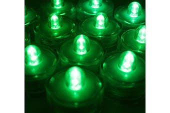 (36, Green) - BlueDot Trading Submersible LED Battery Operated Tea Lights, Green