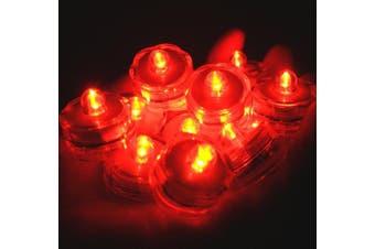 (36, Orange) - BlueDot Trading LED Battery Operated Submersible Tea Lights, Orange