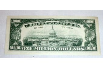 One Million Dollar Bills, Lot of 3 Bills, Look and Feel Real (1925)