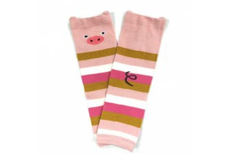 (Pig) - Wrapables® Animals and Fun Colourful Baby Leg Warmers
