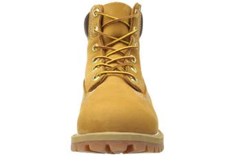 (12 UK Child, Wheat) - Timberland Unisex Kids' Classic Waterproof Ankle Boots
