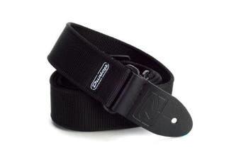 (Black) - Dunlop D3809BK Solid Black Strap