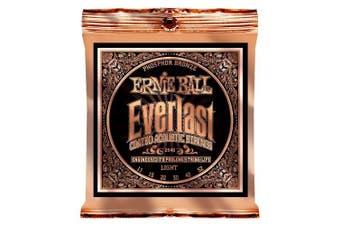 (Light, Phosphor Bronze) - Ernie Ball Everlast Light Coated Phosphor Bronze Acoustic Guitar Strings - 11-52 Gauge
