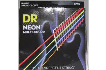 DR Strings NMCB-45 DR NEON 4 Bass Guitar String, Medium, Multi-Colour