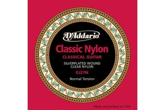 (Small Medium Large X-Large 2X-Large) - D'Addario EJ27N Student Nylon Classical Guitar Strings, Normal Tension