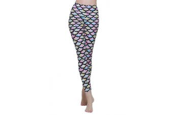 (Asian XL = US L, colorful) - Surfing Leggings Women Swim Tights Swimming Pants Sun Protection