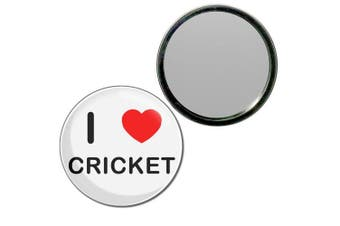 (77mm) - I Love Cricket - 77mm Round Compact Mirror