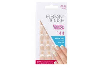 Elegant Touch Natural French Nails Number 144 Petite, X-Small