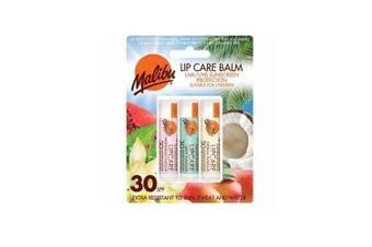 Malibu Blister Lipbalm with SPF30, Watermelon/ Mint/ Vanilla 12 ml