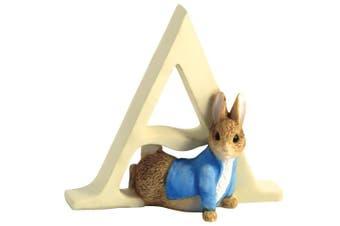 (A) - Beatrix Potter Alphabet Letter A Peter Rabbit Figurine