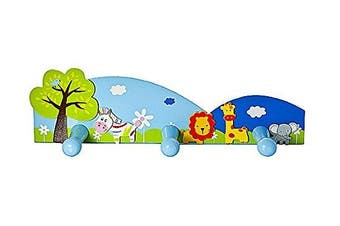 Safari Themed Childrens Coat Hook Wall Hook for Boys or Girls Nursery or Bedroom