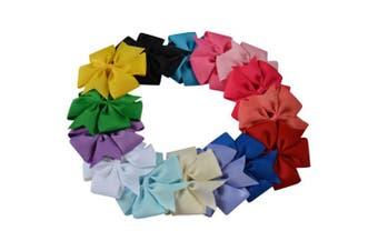 Bzybel Boutique Girls Kids 10cm Pinwheel Hair Bows Clips Grosgrain Ribbon Barrettes, Hair Accessories