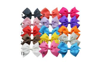 Bzybel Boutique Baby Girls Kids 7.6cm Hair Bows Clips Grosgrain Ribbon Barrettes Alligator Clips, Hair Accessories