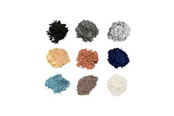 (9-Stack, Onyx) - Mineral Shimmer Makeup Eyeshadow Highlighting Powder - Glitter Metallic Dust for Face, Hair & Nails (9-Stack - Onyx)