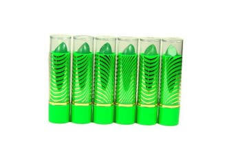 Aloe Vera Colour Change Mood Lipstick Assorted Lipsticks 6 pc Green