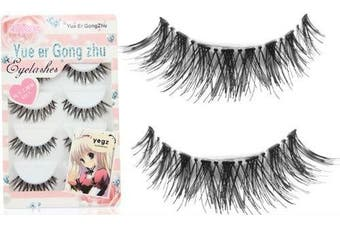 (Style 1) - Skyluna® New 5 Pair Thick Crisscross Long False Eyelashes Fake Eye Lashes Voluminous Makeup Hw-8