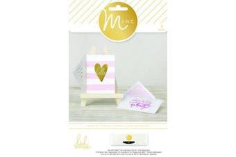 American Crafts 8 Piece Heidi Swapp Minc Card Set, Hello Stripes