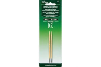 (Size 6/4mm) - Takumi Bamboo Interchangeable Circular Knitting Needles