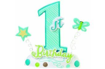 (8.9cm  x 11cm , Blue) - Lillian Rose 1st Birthday Keepsake Cake Top, Blue, 8.9cm x 11cm