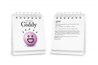 (Set of 1) - Fred and Friends The Daily Mood Desk Flipchart