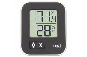 La Crosse Technology 30.5026.01 Moxx Digital Thermo-Hygrometer with Comfort Icon, Black