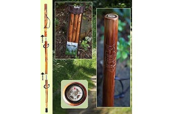 Owl Take A Hike Compass Folding Walking Stick with Travel Pouch - 120cm . Long