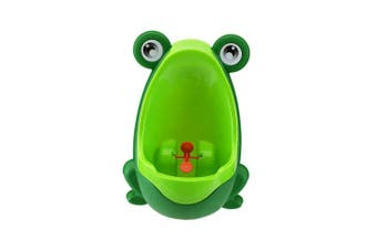 (Dark Green) - Foryee Cute Frog Potty Training Urinal for Boys with Funny Aiming Target - Blackish Green