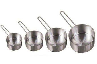 American Metalcraft MCW4 Measuring Cup Set, Stainless Steel, Wire Handle (Set of 4)