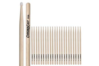 (7an, 12 PAIRS) - ChromaCast CC-7AN-12 7A USA Hickory Drumsticks with Nylon Tip, 12-Pair